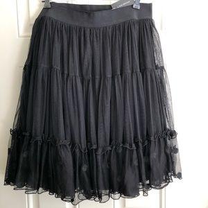 NWT black 3 tier  full skirt